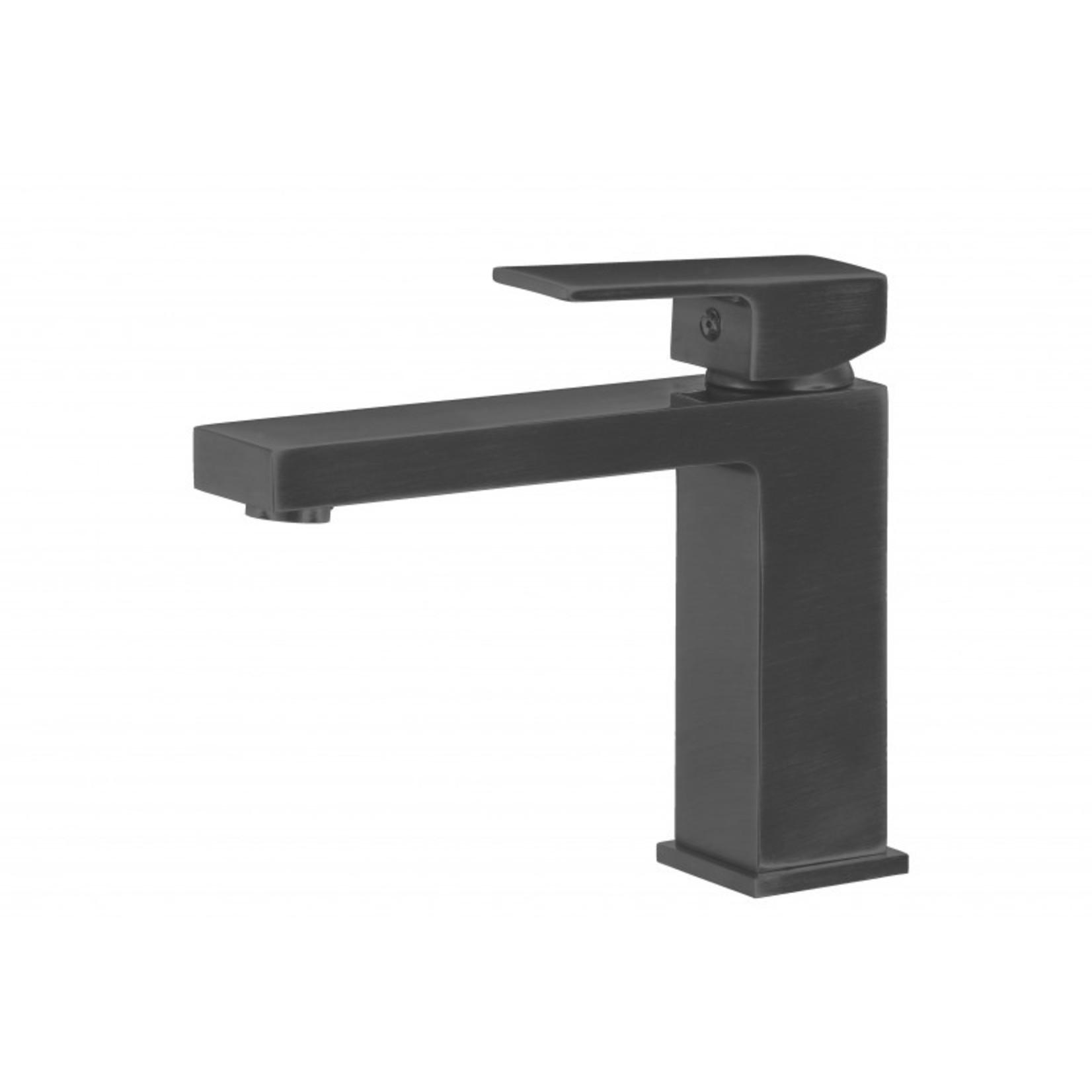 Matte black washbasin faucet 145-MB