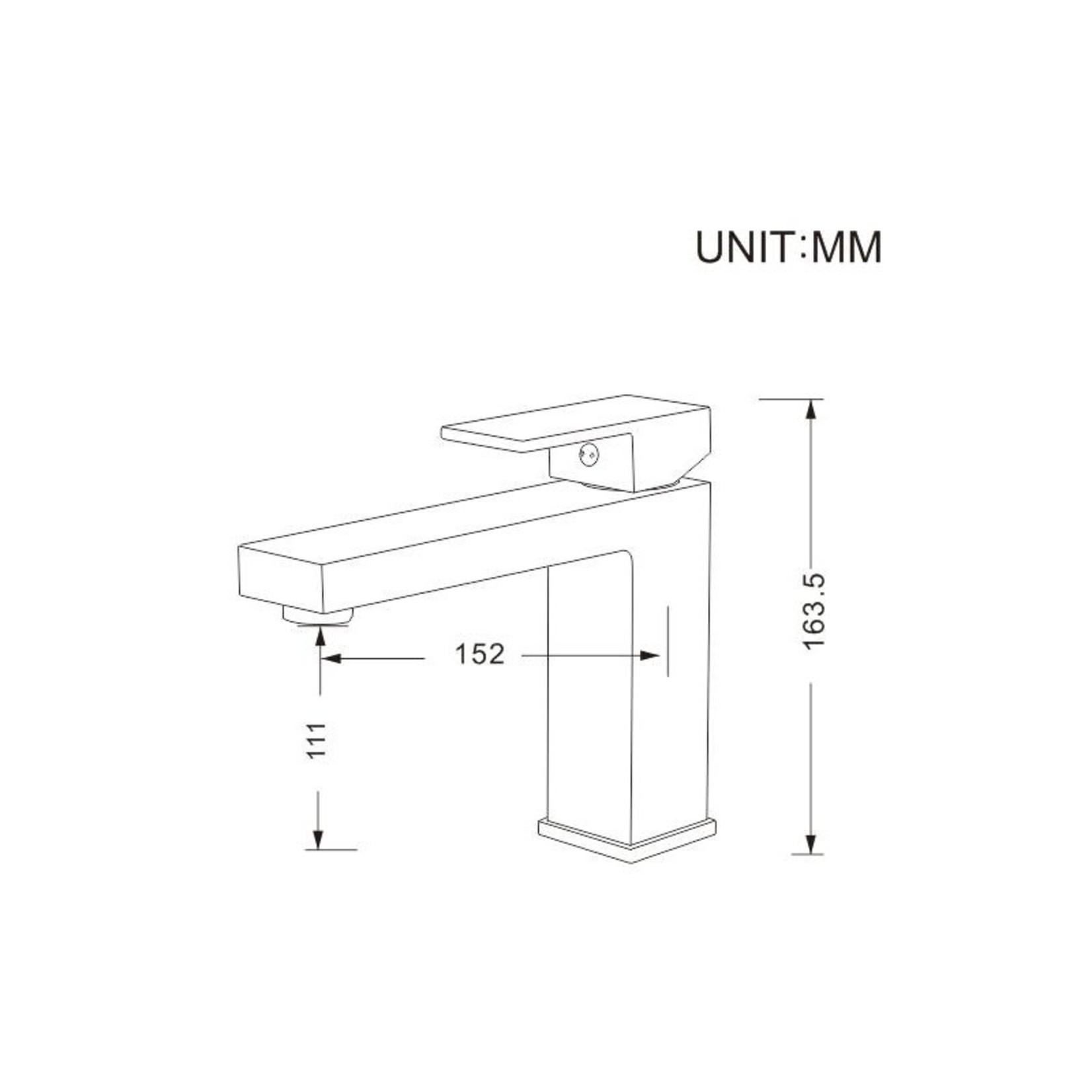 Robinet de lavabo Noir mat Collection Kimmi DN-145-11