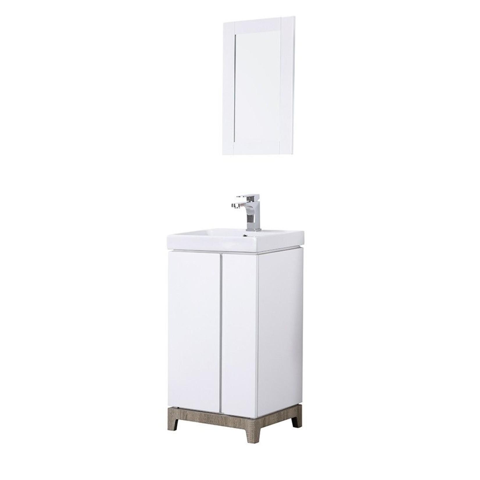 18 '' white vanity Odyssey Ove
