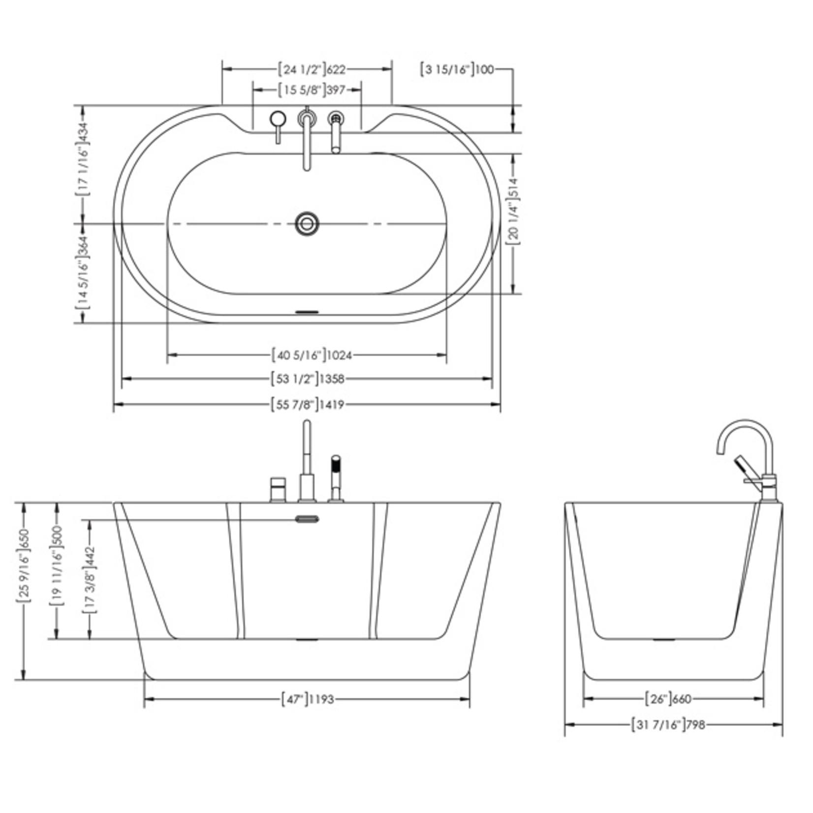 Freestanding Tub Juliet 56''
