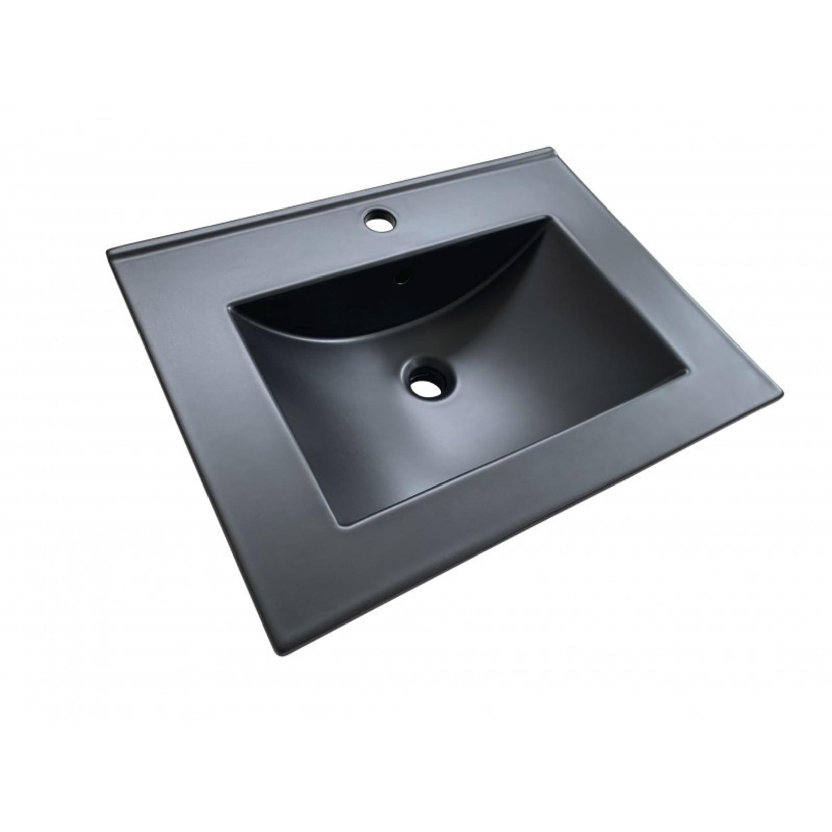 Lavabo en porcelaine noir DI-2026