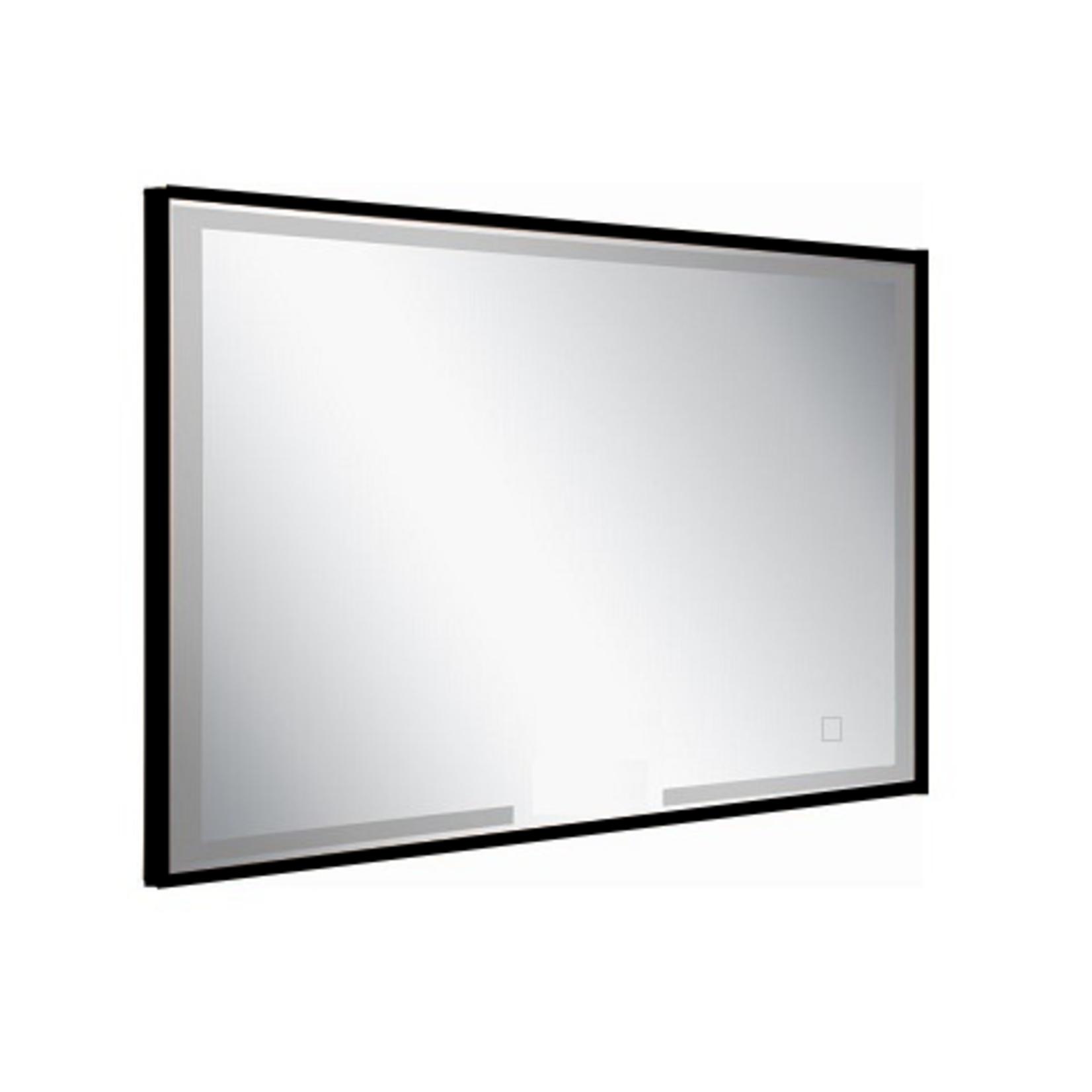 Rectangular LED mirror with black borders