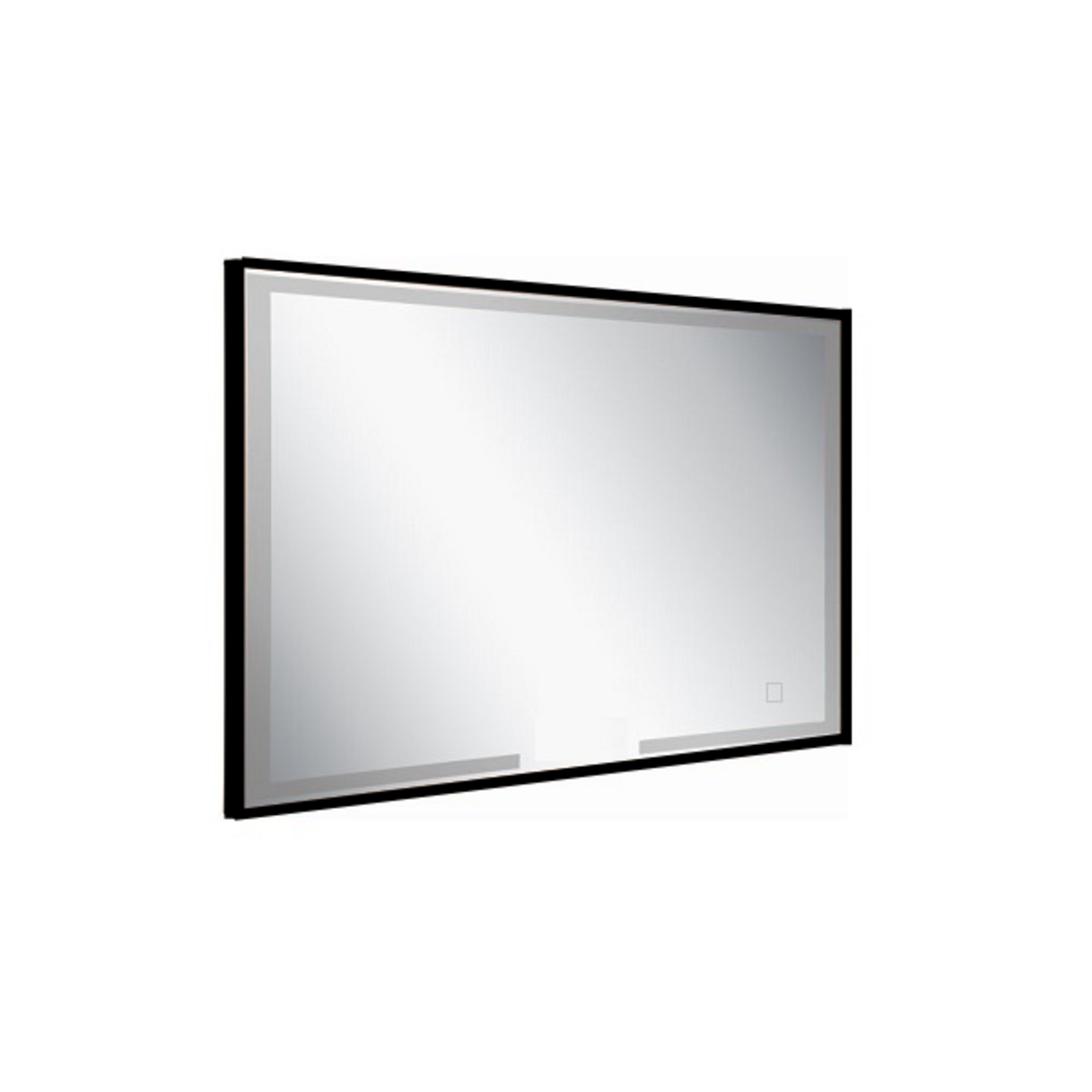 Miroir LED rectangulaire avec bordures noires