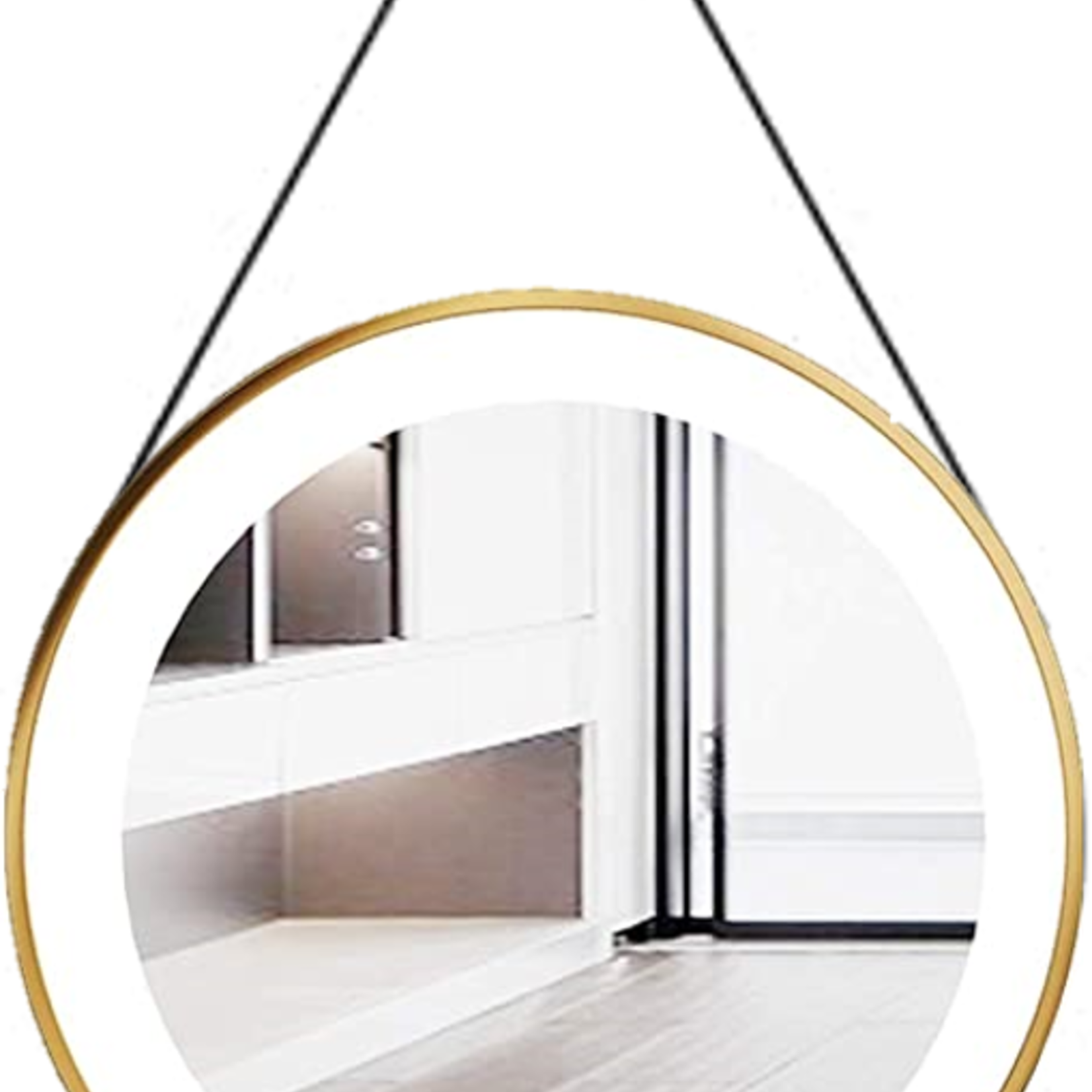 """Nortrends Gold Round 24 """"LED Mirror"""