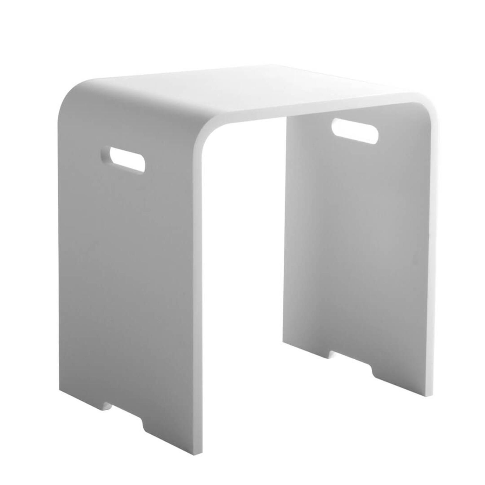 Shower stool Kris matt white Jade