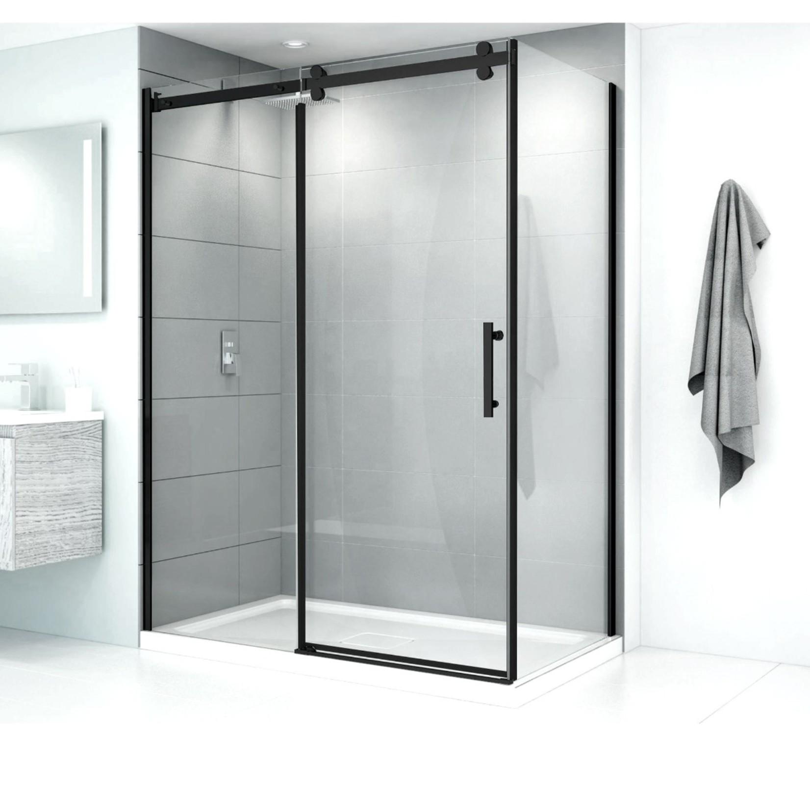Reversible shower set 36x48 black Quartz series CDC