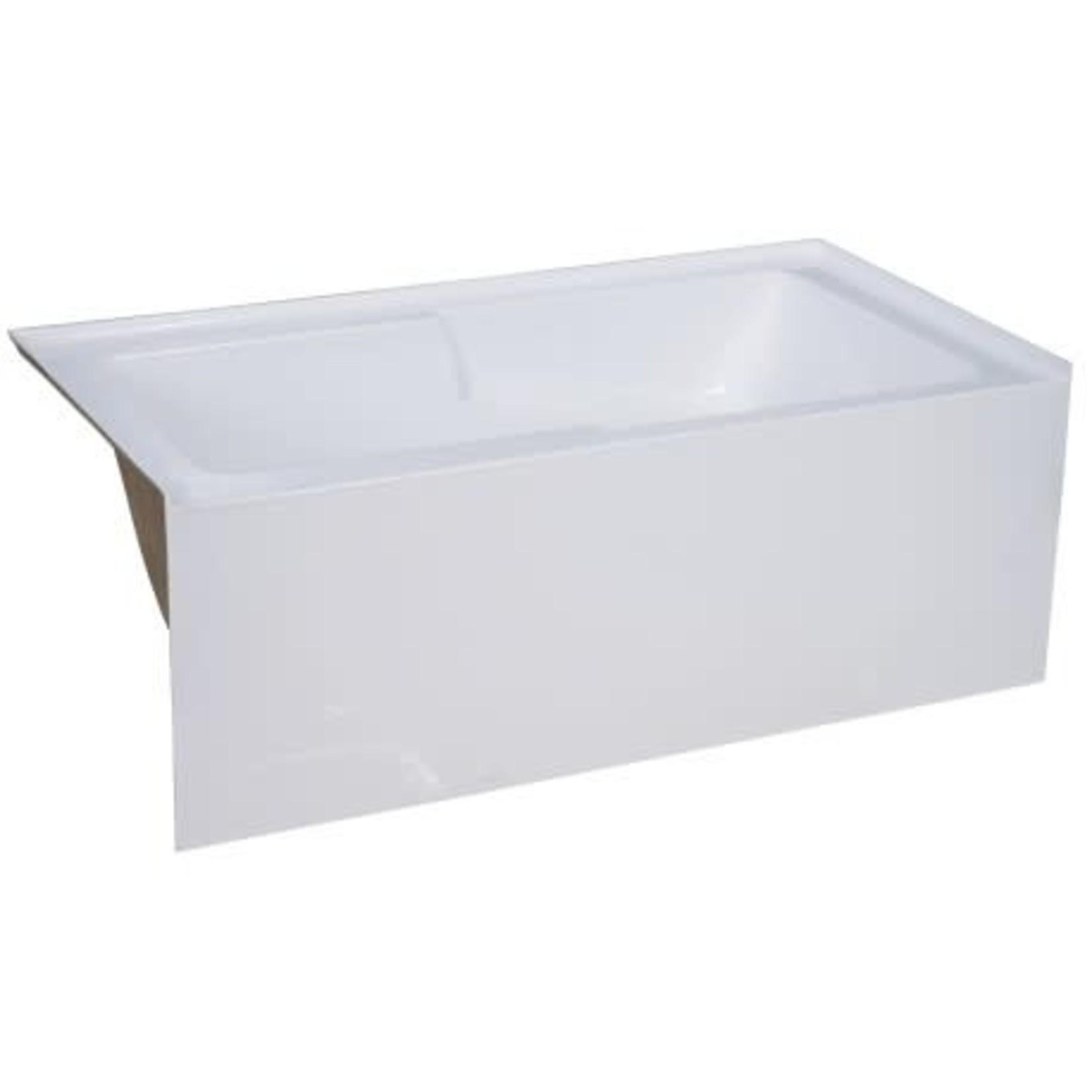 Zen Builder Di Lyla Right / Righ 60 '' alcove apron bathtub (armrests)