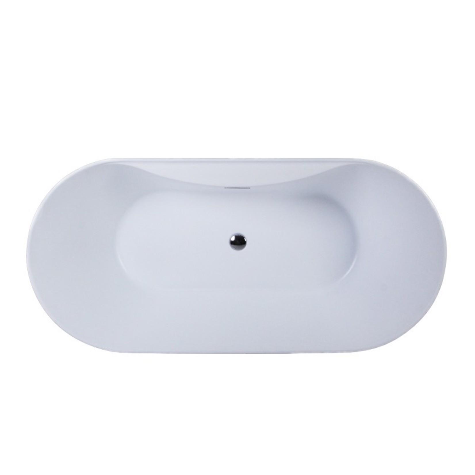 "Osiris White Freestanding Bath 67 """