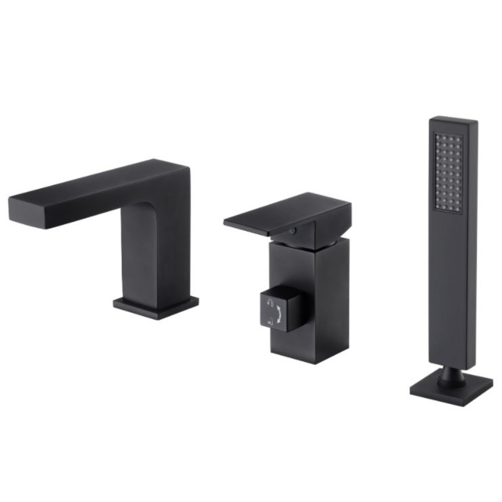 Robinet de bain romain noir MN-3821-03