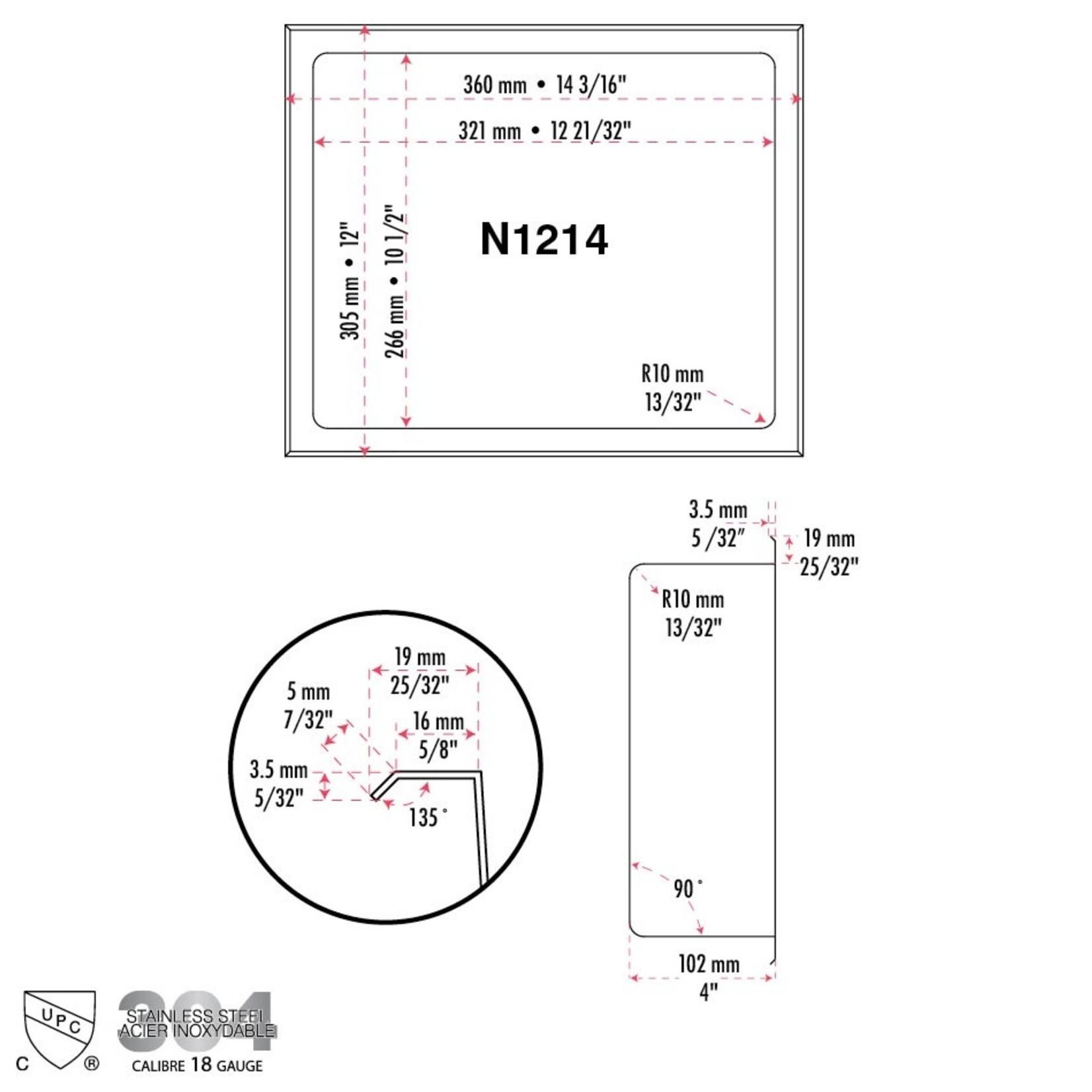 Niche 12x14 Luho Aqua N1214BL
