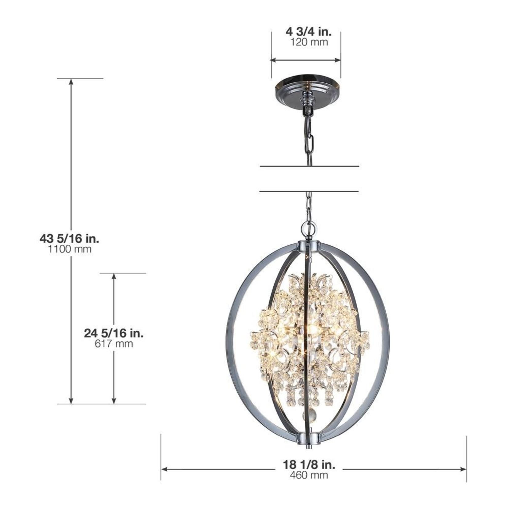 Luminaire Pena chrome LED Ove