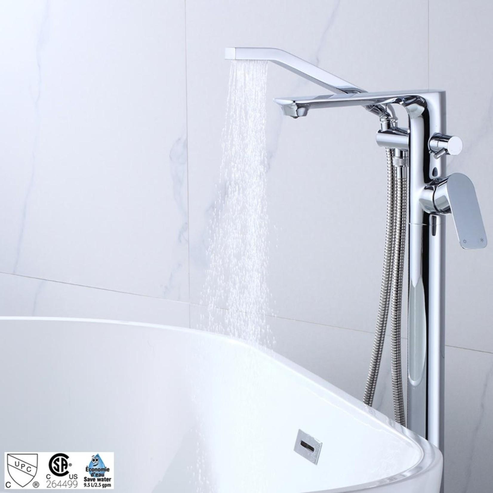 Robinet de bain sur pied chrome collection Elena ak+ 6126CP