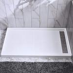 Base de douche en résine / SMC 36x48 drain linéaire droit installation droite