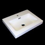 Lavabo semi-encastré en porcelaine Luho GP065