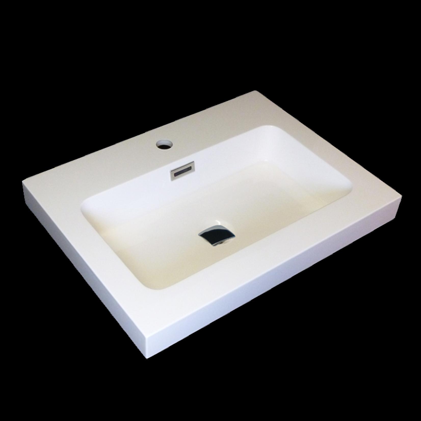 Lavabo semi-encastré en porcelaine Luho GP-R065