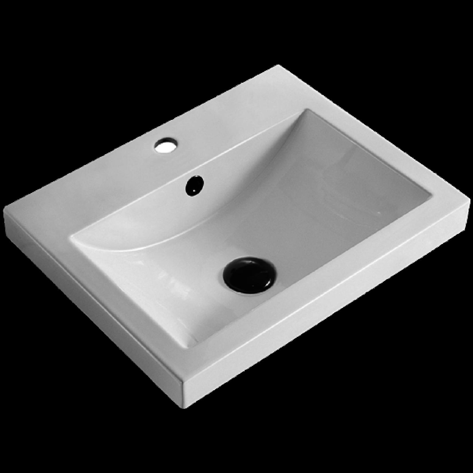 Lavabo encastré en porcelaine Luho GP-0434A