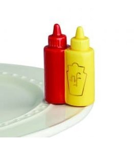 Nora Fleming Ketchup and Mustard Mini