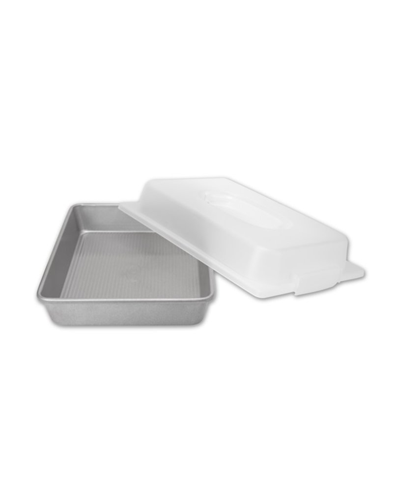 USA Pans Rectangular Cake Pan & Lid Set