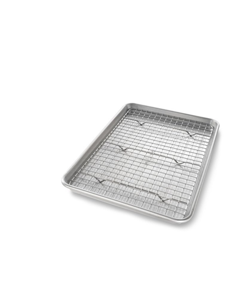 USA Pans Jelly Roll with Cooling Rack Set