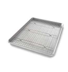USA Pans Half Baking Pan & Rack Set
