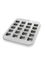 USA Pans Brownie Bite Panel Pan 15.75x11.12x1.28 20Well