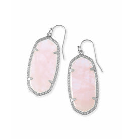Kendra Scott Elle Rhodium/ Rose Quartz