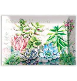 Michel Design Works Pink Cactus Glass Soap Dish