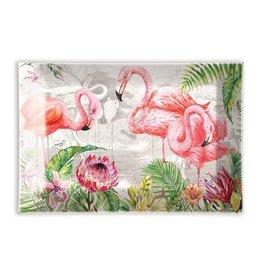 Michel Design Works Flamingo Glass Soap Dish