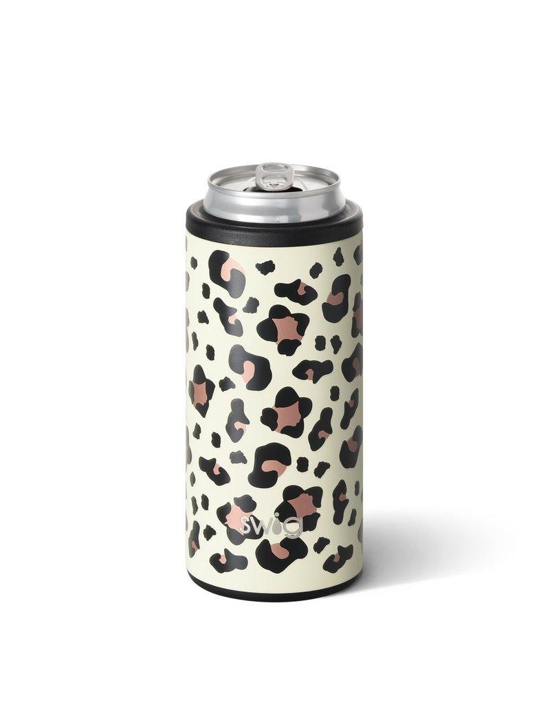 Swig Swig 12oz Skinny Can Cooler - Luxy Leopard