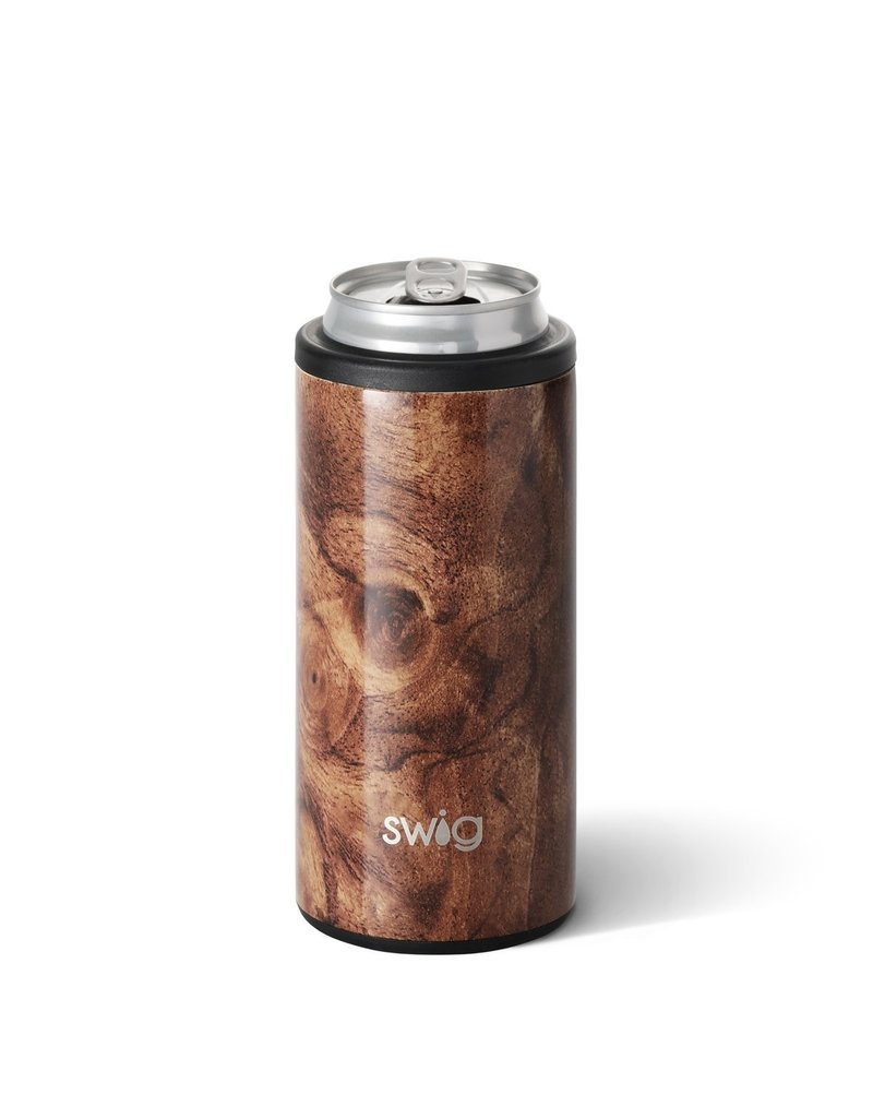 Swig Swig 12oz Skinny Can Cooler-Black Walnut