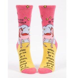 Blue Q Socks: Always Be A Unicorn Crew