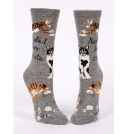 Blue Q Socks: People I Love: Cats Crew