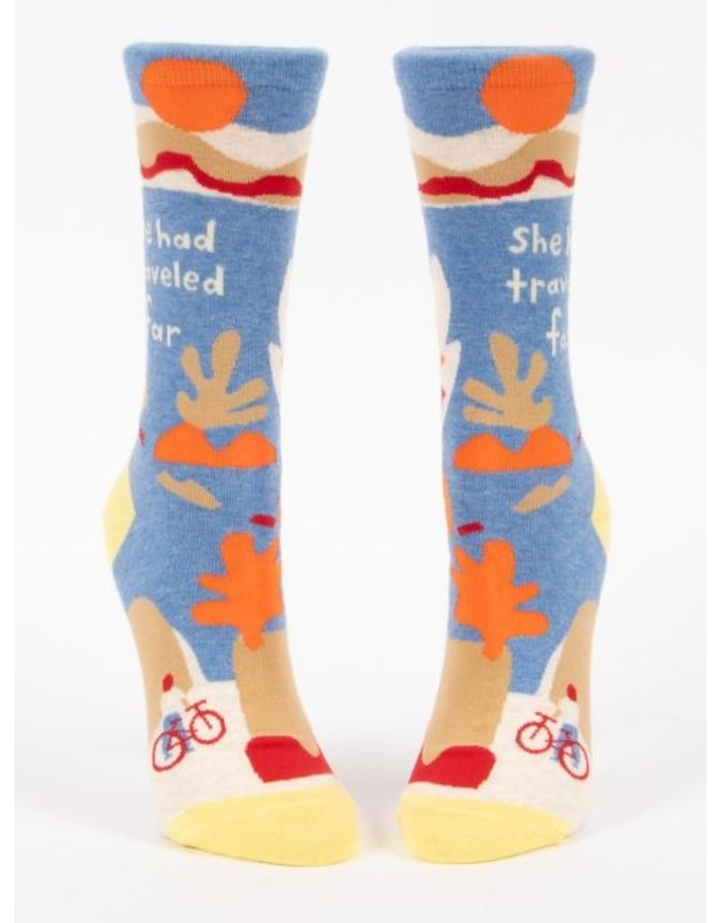 Blue Q Socks: She Had Traveled Far Crew