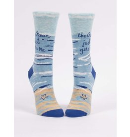 Blue Q Socks: Ocean Gets Me Crew