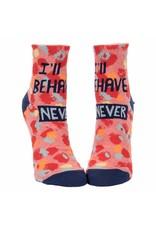 Blue Q Socks: Ill Behave Never Ankle