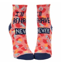 Blue Q Socks: Ill Behave Never Ankle