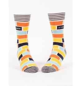Blue Q Socks: Stubborn Men's