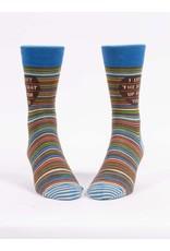 Blue Q Socks: I Left The Seat Up Men's