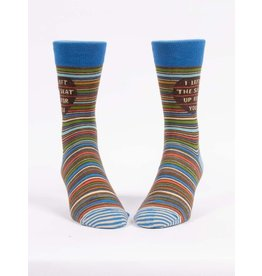 Blue Q Socks: I Left The Seat Up Men's