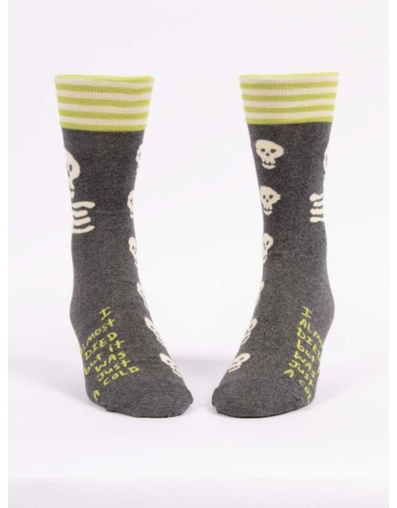 Blue Q Socks: I Almost Died Men's