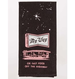 Blue Q My Way or Fast Food Dish Towel