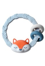 Itzy Ritzy Rattle with Teething Rings - Fox