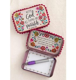Natural Life Prayer Box - With God All Things Are Possible