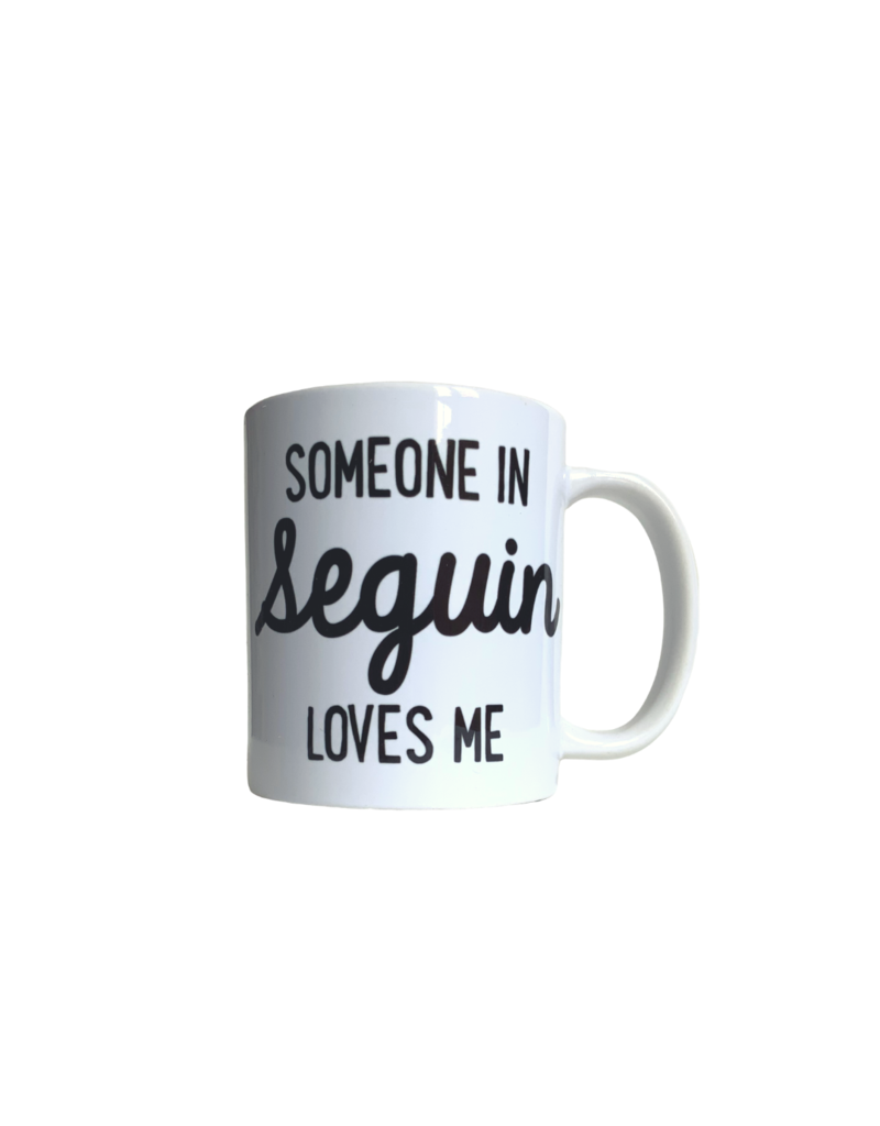 Rock Scissor Paper Someone In Seguin Loves Me Mug