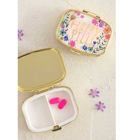 Natural Life Happy Pills Pink Floral Pill Box