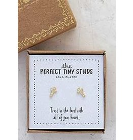 Natural Life Perfect Tiny Studs - Cross