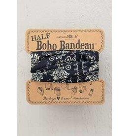 Natural Life Half Boho Bandeau - Black Cream Manda