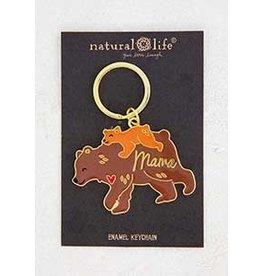Natural Life Mama Bear Enamel Keychain