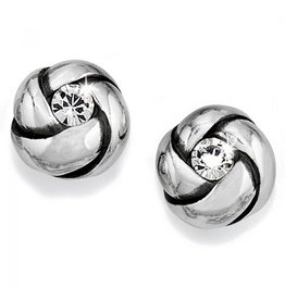 Brighton Love Me Knot Mini Post Earring - Silver