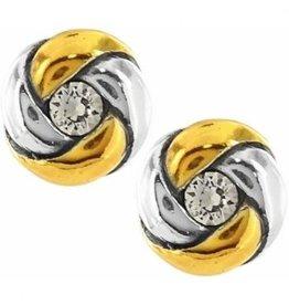 Brighton Love Me Knot Mini Post Earring - Silver/Gold